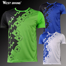 WEST BIKING Men Quick Dry Personalized Leisure Running Training T-shirt Sports Top Short-sleeve Cycling Bike Bicycle Jerseys(China)