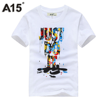 A15 T Shirt Boys Summer 2018 Brand Short Sleeve Clothes T-shirt Girl Kids Clothing Children Designer Cotton Top Tee Size 8 10 12(China)