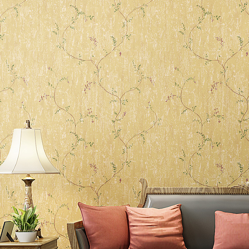 Non-woven Wallpaper Roll Vintage American Rustic Wallpaper 3D Wall Mural For Bedroom Walls Vine Flower Wall Papers Home Decor <br>