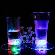 Hot Selling1 Pcs LED Colorful Change Light Up Drink Cup Mat Tableware For Bar Club Party(China)