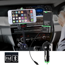 Multi-function with mobile phone clip Bluetooth car Kit FM transmitter phone holder Audio Music Receiver Adapter Handsfree