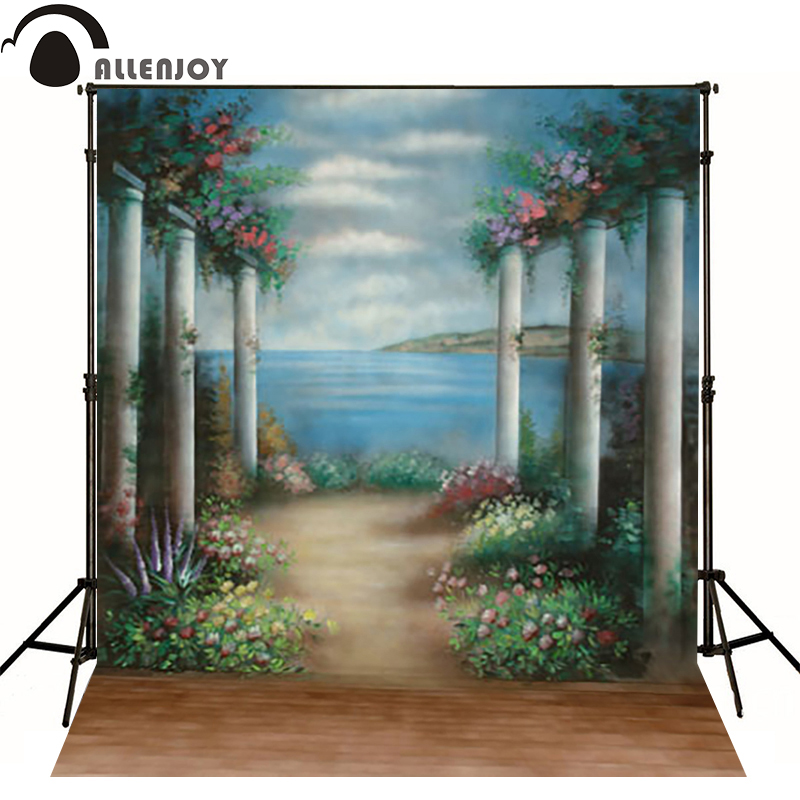 Allenjoy vinyl backdrops for photography Europe seaside stone flower photo background baby kid photocall cute 10x10<br><br>Aliexpress