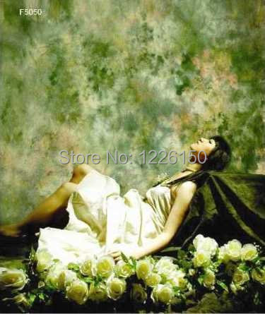 Free Professional10ft*10ft hand painting backdrop F5050 ,Kaol Studio Muslin dyed background photo ,muslin wedding backdrops<br>