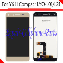 Gold New Full LCD Display + Touch Screen Digitizer Assembly Replacement For Huawei Y6 II Compact LYO-L01 LYO-L21 Free Shipping