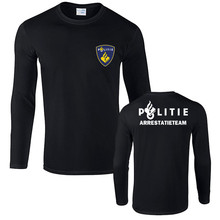 Netherlands Politie Police Special Swat Unit Force Mens T Shirts Novelty Cotton Long Sleeve T Shirt Tops Tees Friend Gift(China)
