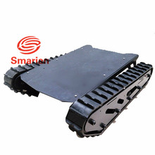 Original smarian Metal Tank Chassis with Rubber Crawler Belt Tracked Vehicle Excavator Robot Chassis Remote Control DIY RC Toy