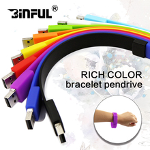 Multicolor Silicone Bracelet Wrist Band usb stick pen driver 64GB 32GB 16GB 8GB 4GB USB Flash Drive Memory Stick U disk usb2.0(China)