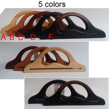 5 Pairs 5 Colors 30X12cm Solid Wooden Handles For Handmade Bag Handbags,DIY Bag Hanger Purse Handle Charming Fashion Wooden Bag