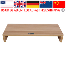 Wooden Monitor Stand PC LED LCD Computer Monitor Riser Desktop Organizer Display Bracket(China)