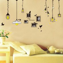 Explosion Models Third Generation Environmentalism PVC Removable Wall Stickers Living Room Bedroom Creative Chandelier