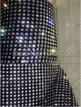 free shippment,24 Rows Plastic Crystal Rhinestone Mesh Trimming with3mm AAA clear stones rhinestones banding,black base