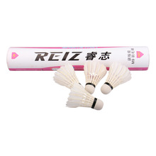 Free Shipping 12pcs/lot High Quality 12Pcs Training White Teal Feather Badminton Shuttlecocks Wholesale M9(China)