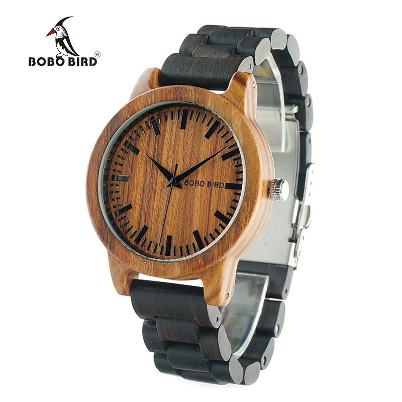 BOBO BIRD 2017 New Arrival M5 Mens Watches top brand luxury Two Color Combination All Wood Quartz Wristwatch in Gift Box <br><br>Aliexpress