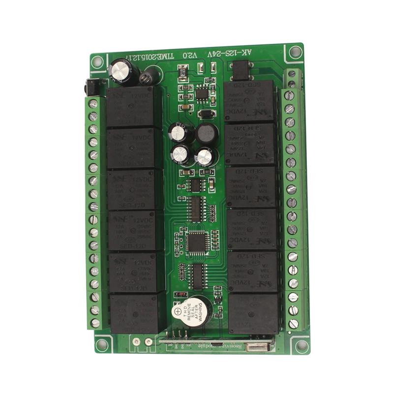 12CH 12V Remote Control Switch Relay Wireless Remote Switch 12 Channel Relay Module 12V 315MHz 433MHz Learn Code (8)