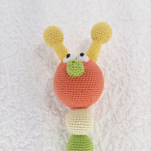 Caterpillar rattle, Orange Rattle, Cotton crochet toy, Baby gift, Organic teether, Baby Shower gift, Baby teething toy, Newborn(China)
