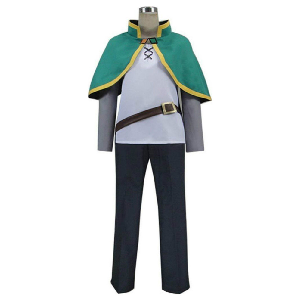 KonoSuba:God's Blessing on this Wonderful World Satou Kazuma Cosplay Costume Girl Outfit Whole Set For Halloween Carnival Party