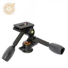 QZSD Q80 Aluminum Video Tripod ballhead 3-way Fluid Head Rocker Arm with Quick Release Plate for Camera Tripod Monopod(China)