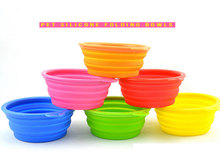 Folding Silicone Pet Bowl For Both Food and Water Portable Travel Dog Bowl or Cat Bowl Free Carry Hanging Hook