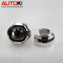 Free Shipping 3.0 HID Bi-xenon Projector Lens Koito Q5 Square with Projector Cover 2PCS for Headlight Use D1S D2S D2H D3S D4S Xe