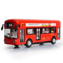 Simulation 1:50 scale Single layer Tourist bus diecast cars metal model pull back alloy toys with liaght and sound for kids