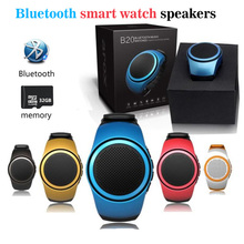 Newest B20 Bluetooth Smart Watch MP3 Speaker Watch Portable Mini Mobile phone DZ09 Q18 V8 A1 Smartwatch Sport Sound TF FM Audio(China)