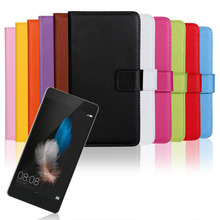 Huawei P8 Lite Case Flip Leather Cover Fundas Ascend p8 lite Capa Cell Phone SmartPhone Cases Etui Genuine Wallet Accessory Bags
