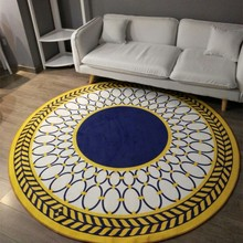 Modern Fashion Geometric Carpet Sitting Room Bedroom Mat Study Computer Chair Round Rug(China)