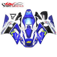 Complete Fairings For Yamaha YZF 600 R6 98 99 00 01 02 YZF-R6 1998 - 2002 Injection ABS Motorcycle Fairing Kit Blue Vale 46