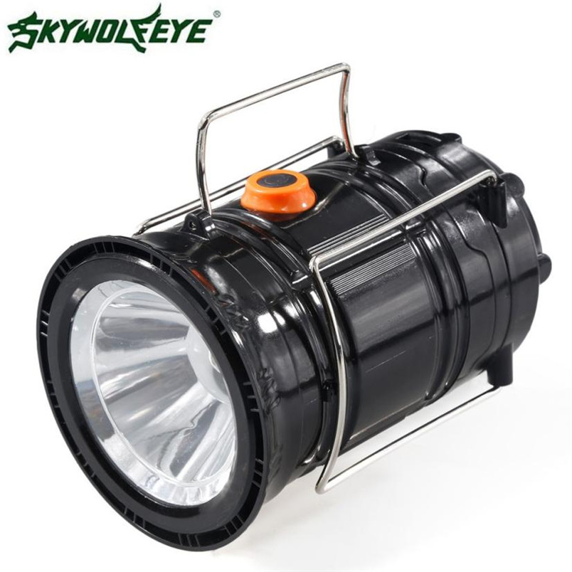 Rechargeable camping lanterns Solar Led Portable led bulb Collapsible Flashlights led tent lanterns lamparas camping NOJ08