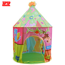 Kids Portable Large Play Tent Indoor Outdoor Game Teepee Children Sun Roof Animal Toy Playhouse Monkey Giraffe Bear Elephant D52(China)