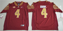 Nike Men's Florida State Seminoles Dalvin Cook 4 College Limited Ice Hockey Jerseys - Red Size S,M,L,XL,2XL,3XL(China)