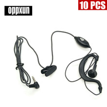 10PCS  1 PIN 3.5mm Small Square PTT Earpiece MIC for YAESU VX-3R/5R/10/110/132/168/210/ 300 FT -50/60R TSP-2100 New Black