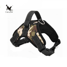 TAILUP Service Dog Leads For Walking Reflective Strap Pitbull Easy Work Dog Harness S/M/L/XL