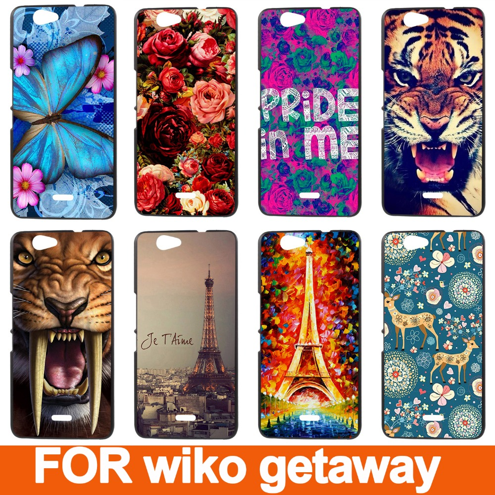 HOT Selling Stock Painting Hard Case For wiko getaway Cell Phone Cover Plastic Case For wiko getaway Back Cases(China (Mainland))
