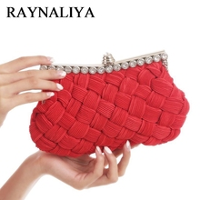 2017 Hot Sale Real Knitting Beaded Evening Handbag Party Clutch Wedding Handbags Designer High Quality Purses XST-A0087(China)