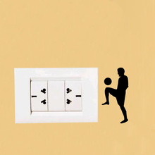 Football Players Fashion Vinyl Switch Decals Wall Stickers 5WS0743(China)