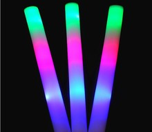 Sponge Light up toys Emitting foam stick Neon stick Sports Party Cheerleading Supplies Colorful Birthday holiday decorations(China)