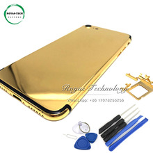 5 PCS/Lot Replacement 24K Gold Plated Rear Door Housing for iphone 7 Plus Middle Frame Back Cover with Card Tray+Buttons+Tools