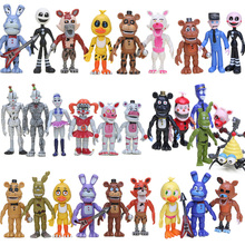 FNAF PVC Action Figures Set Foxy Chica Bonnie Freddy Fazbear Sister Location Model Dolls Nightmare Five Nights At Freddy's 4 Toy