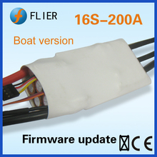 16S 200A high powerful blushless ESC for rc Boat/surfboard with capacitor bank and throttle interface(China)