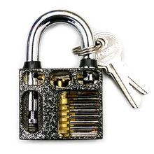 2017 New Transparent Blade Lock Cutaway Locksmith Practice Lock Difficulty Coefficient Upgrade(China)