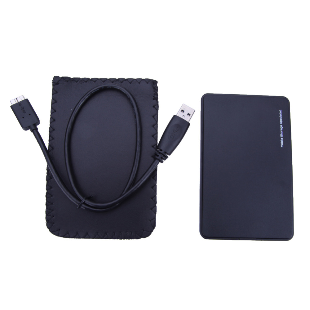 2TB Mobile HDD Enclosure Case USB 3.0 to SATA HDD Hard Drive External Enclosure Black Case Without Screws For Windows/Mac OS(China)