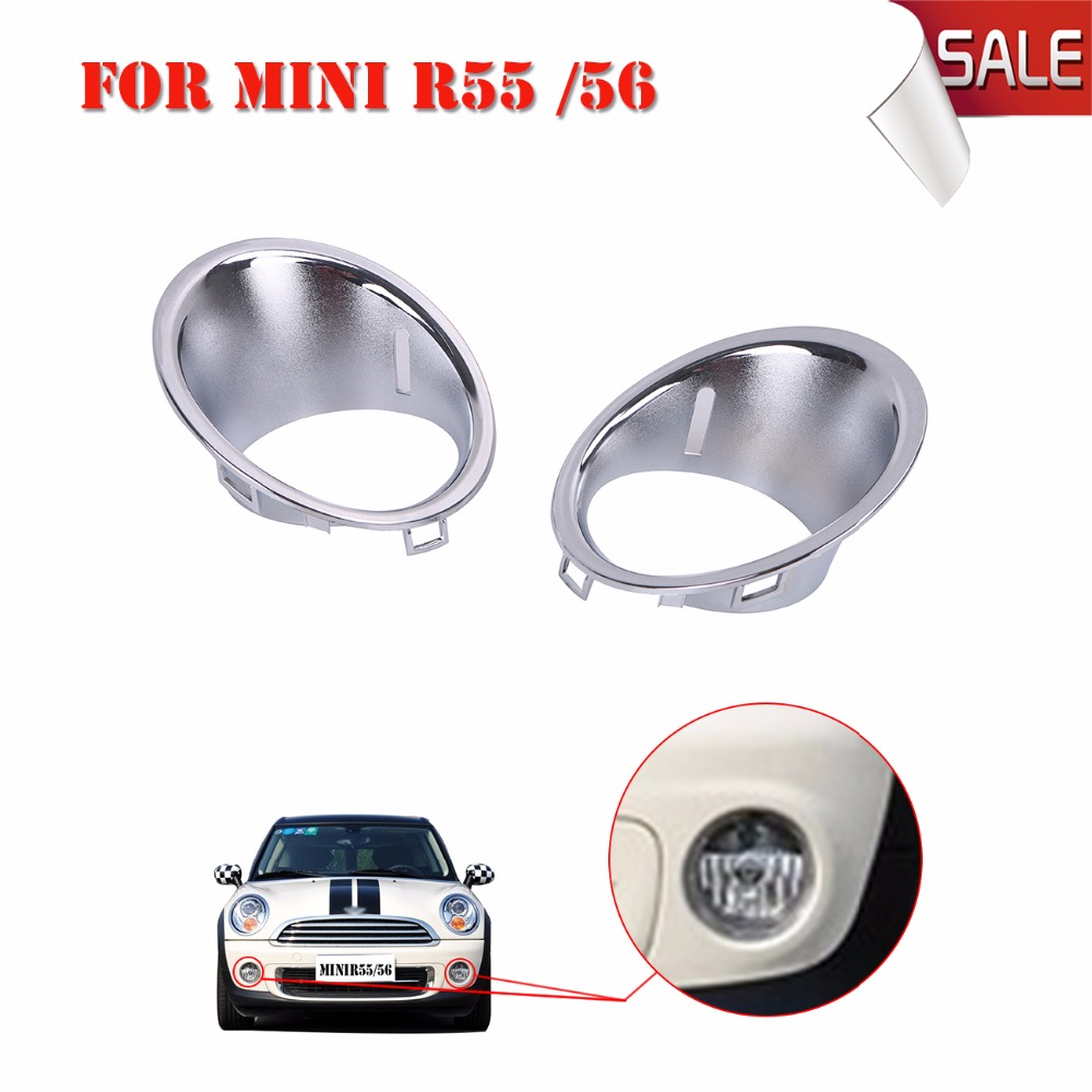 Front Bumper Chrome Fog light Surround Trim Ring For Bmw Mini  Cooper / One Hatchback R56 R55 R57 //<br>