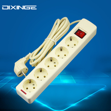 DIXINGE 6 AC Power Sockets 16A 250V Power Strip German standard Switch Outlet 3m/5m Extension Socket P001(China)