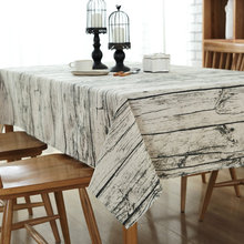 Retro European style Simple Linen Wood grain stripe table cloth dust-proof Coffee table Cover Cloth free shipping