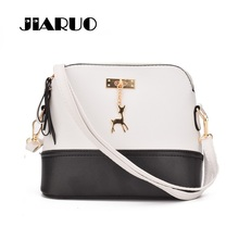 JIARUO Shell Leather Crossbody bag For Women Messenger Shoulder bags Handbags Deer Pendant HOT Style