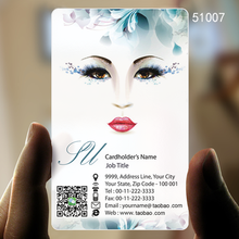 pvc transparent card production of high-grade printing / white ink design creativity personality makeup beauty / stencil