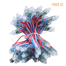 50pcs WS2811/LPD6803/WS2801IC/DMX512 optionally led string led pixel module 12mm RGB Digital Full Color DC5V  Waterproof