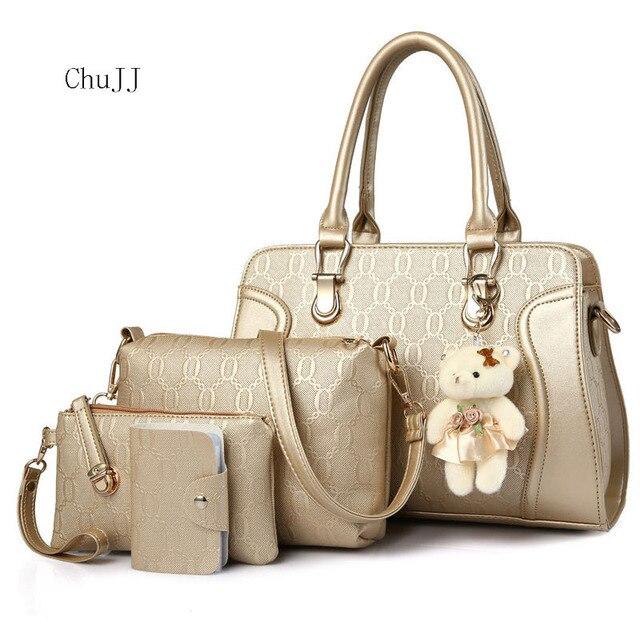Bag 2018 new fashion women s bag wholesale single shoulder oblique span  handbag four-piece set fcbce761fb