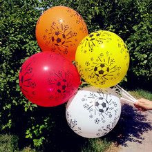 35pcs/lot Thicken 12 inch Football printed balloon Football balloon Children's Day Grand Event party decoration latex globos